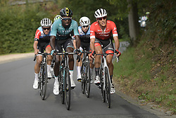 September 12, 2018 - Namur, BELGIUM - French Kevin Reza of Vital Concept Cycling Club and Belgian Jasper Stuyven of Trek-Segafredo pictured in action during the 59th edition of the one day cycling race Grand Prix de Wallonie (205,9km) from Blegny to the Citadelle de Namur, in Namur, Wednesday 12 September 2018...BELGA PHOTO YORICK JANSENS (Credit Image: © Yorick Jansens/Belga via ZUMA Press)