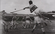 Wexford's Tim Flood in action against Limerick. 1955.