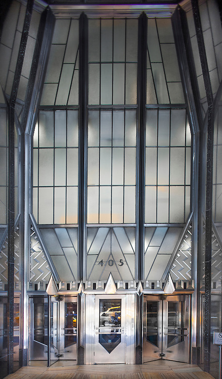 Like an Art Deco cathedral, the soaring Lexington Avenue entrance to the Chrysler Building