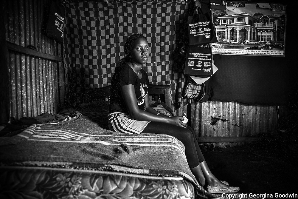 Moreen, aged 21. Raped at the age of 14 just outside the Mugumoini area she has yet to tell anyone except her best friend. <br /> This image is from a series focusing on and around the rape and the women victims that occur every half a day in Mugumoini Village in Nairobi's Southlands, a slum home to 20,000 people in abject poverty with little or no income, with the aim of creating exposure and empowerment for change. ©GGoodwin