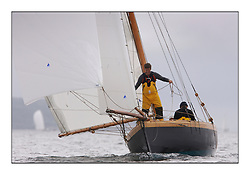 Ayrshire Lass 1887 Gaff Cutter...Sunday race from Largs to Rhu started damp but briefly lifted for a downwind race to the upper Clyde...* The Fife Yachts are one of the world's most prestigious group of Classic .yachts and this will be the third private regatta following the success of the 98, .and 03 events.  .A pilgrimage to their birthplace of these historic yachts, the 'Stradivarius' of .sail, from Scotland's pre-eminent yacht designer and builder, William Fife III, .on the Clyde 20th -27th June.   . ..More information is available on the website: www.fiferegatta.com . .Press office contact: 01475 689100         Lynda Melvin or Paul Jeffes