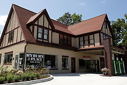 Sprague's Super Service has been restored and the first occupant is Ryburn Place Gifts and Gab.  Terri Ryburn was responsible for the restoration of the building and owns the gift shop.
