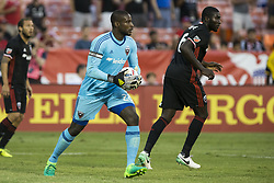 August 23, 2017 - Washington, District Of Columbia, USA - D.C. United goalkeeper Bill Hamid (28) looks for an open player after making a save. (Credit Image: © Alex Edelman via ZUMA Wire)