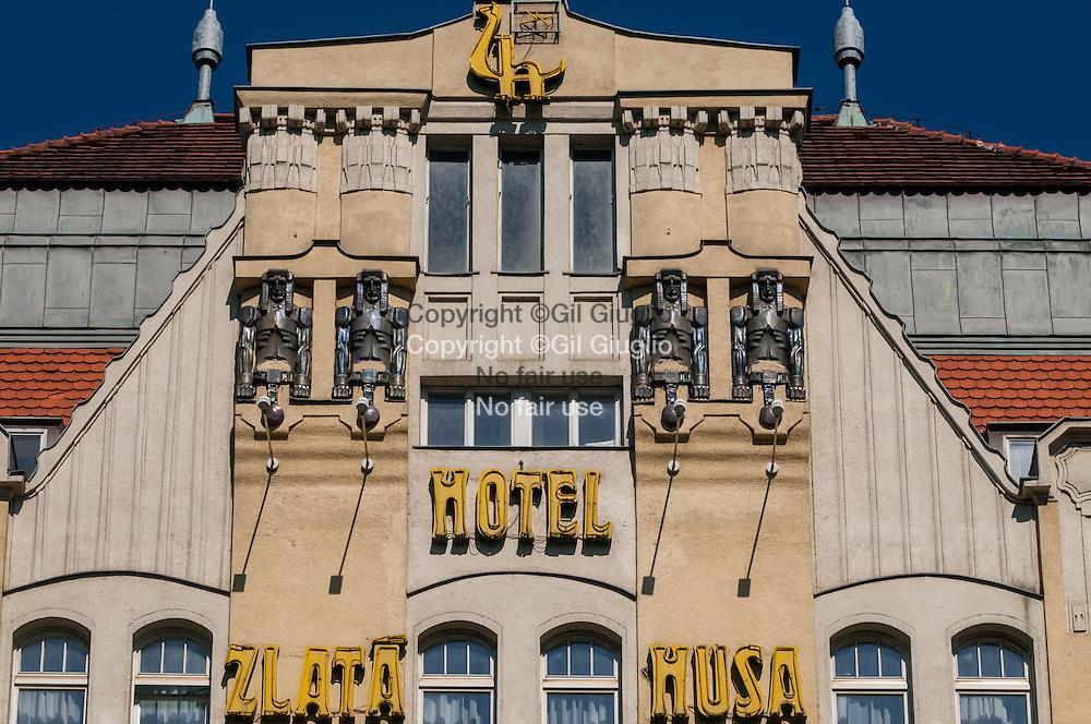 Czech Republic, Prague, Stare Mersto, Praha 1, The Slata Musa hotel buildings on Venceslas square,