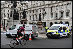 August 14, 2017 - London, London, United Kingdom - Image ©Licensed to i-Images Picture Agency. 14/08/2017. London, United Kingdom. Incident in central London. Police seal off a van on Pall Mall with the junction of Waterloo Place. Picture by Andrew Parsons / i-Images (Credit Image: © Andrew Parsons/i-Images via ZUMA Press)