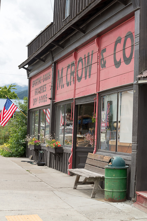 M. Crow & Co., a historic general store in Lostine, Oregon.