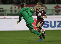 March 18, 2017 - Turin, Italy - Andrea Belotti in action during the Serie A match between FC Torino and FC Internazionale at Stadio Olimpico di Torino on March 18, 2017 in Turin, Italy. (Credit Image: © Loris Roselli/NurPhoto via ZUMA Press)