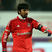 Besiktas's goalkeeper Tolga Zengin during their Turkish Super League soccer match Osmanlispor between Besiktas at the Osmanli Stadium in Ankara Turkey on Monday 21 December 2015. Photo by Kurtulus YILMAZ/TURKPIX