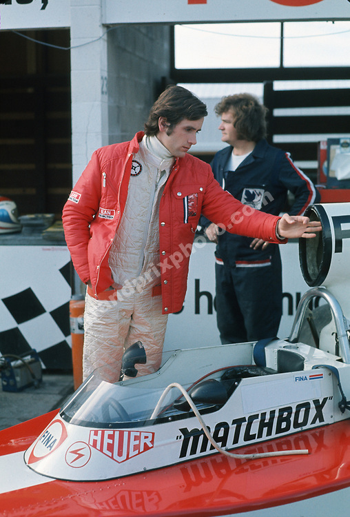 Helmuth Koinigg with his Surtees-Ford before practice for the 1974 Canadian Grand Prix in Mosport Park. Photo: Grand Prix Photo