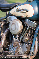 1951 Harley-Davidson Panhead give-away bike at the Born Free 9 Motorcycle Show. Costa Mesa, CA. USA. Friday June 23, 2017. Photography ©2017 Michael Lichter.