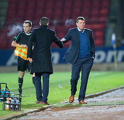 Ross County's manager Jim McIntrye  and St Johnstone manager Tommy Wright at the end. St Johnstone 2 v 4 Ross County. SPFL Ladbrokes Premiership game played 19/11/2016 at St Johnstone's home ground, McDiarmid Park.