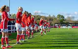 Bristol City Women players warm-up before facing league leaders Arsenal Women - Mandatory by-line: Paul Knight/JMP - 28/10/2018 - FOOTBALL - Stoke Gifford Stadium - Bristol, England - Bristol City Women v Arsenal Women - FA Women's Super League