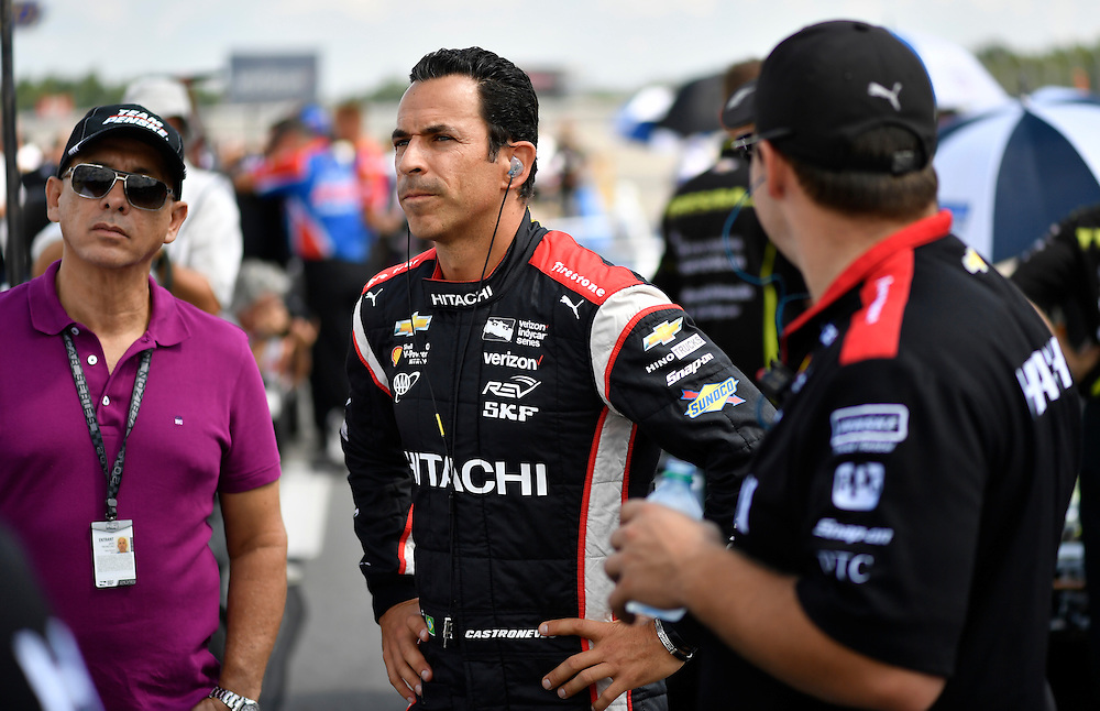20-21 August, 2016, Long Pond, Pennsylvania USA<br /> Helio Castroneves<br /> ©2016, Scott R LePage <br /> LAT Photo USA