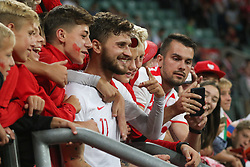 September 11, 2018 - Warsaw, Poland - Mateusz Klich of Poland with fans during the international friendly match between Poland and Republic of Ireland at the Stadion Miejski on September 11, 2018 in Wroclaw, Poland. (Credit Image: © Foto Olimpik/NurPhoto/ZUMA Press)