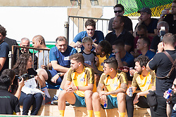 July 8, 2017 - Sao Paulo, Sao Paulo, Brazil - Brazilian soccer player NEYMAR JR (c) and his son DAVI LUCCA takes part in the amateur soccer championship ''NeymarJr's Five'' at the NeymarJr Institute, in Praia Grande in Sao Paulo, Brazil, this Saturday, 08. (Credit Image: © Paulo Lopes via ZUMA Wire)