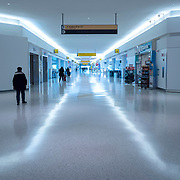 The walkways in the Jetblue terminal remain uncrowded at JFK International Airport during the holiday season with the Coronavirus (Covid-19) outbreak in Queens, New York on Tuesday, December 8, 2020. (Alex Menendez via AP)