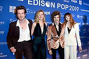Edison Pop 2019  in de Gashouder Westergasfabriek, Amsterdam.<br /> <br /> Op de foto:  Son Mieux - Camiel Meiresonne , Chayenne van der Kooij ,<br /> Maud Akkermans