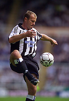 Photo. Jed Wee<br /> Newcastle United v Birmingham City, FA Barclaycard Premiership, St. James' Park, Newcastle. 30/08/2003.<br /> Newcastle's Alan Shearer had a largely fruitless afternoon in front of goal.