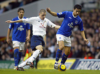 1/1/2005 - FA Barclays Premiership - Tottenham Hotspur v Everton - White Hart Lane<br />Match goalscorers, Tottenham Hotspur's Dean Marney and Everton's Tim Cahill<br />Photo:Jed Leicester/Back Page Images