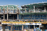 India's growing economy - construction new terminal and shopping complex at Chattrapati Shivaji International Airport Mumbai