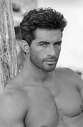 portrait of a good looking shirtless man
