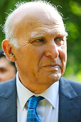 © Licensed to London News Pictures. 10/05/2019. London, UK. Leader of Liberal Democrats, Vince Cable in Camden, north London during the Liberal Democrats European Union election campaign. Britain must hold European Parliament elections on 23rd May 2019 or leave the European Union with no deal on 1st June 2019 after Brexit was delayed until 31st October 2019, as Prime Minister, Theresa May failed to get her Brexit deal approved by Parliament. Photo credit: Dinendra Haria/LNP