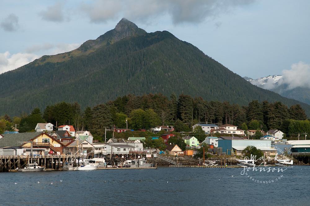 Sitka, Alaska & Arrowhead Mountain behind the town
