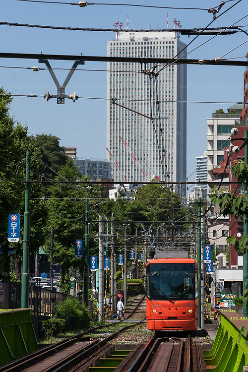 A tram on the Toden Arakawa line in Tokyo, Japan Friday May 15th 2015