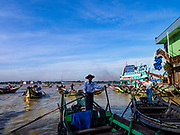 23 NOVEMBER 2017 - YANGON, MYANMAR: River taxis at the San Pya Fish Market pier. San Pya Fish Market is one of the largest fish markets in Yangon. It's a 24 hour market, but busiest early in the morning. Most of the fish in the market is wild caught but aquaculture is expanding in Myanmar and more farmed fresh water fish is being sold now than in the past.    PHOTO BY JACK KURTZ