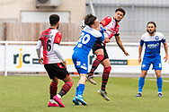 Ryan Hill of Eastleigh  during the Vanarama National League match between Eastleigh and Woking at Silverlake Stadium, Eastleigh, United Kingdom on 10 April 2021.