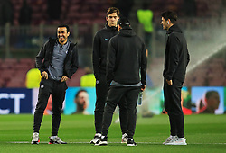 Pedro of Chelsea and teammates check out the pitch on arrival at the Camp Nou Stadium - Mandatory by-line: Matt McNulty/JMP - 14/03/2018 - FOOTBALL - Camp Nou - Barcelona, Catalonia - Barcelona v Chelsea - UEFA Champions League - Round of 16 Second Leg