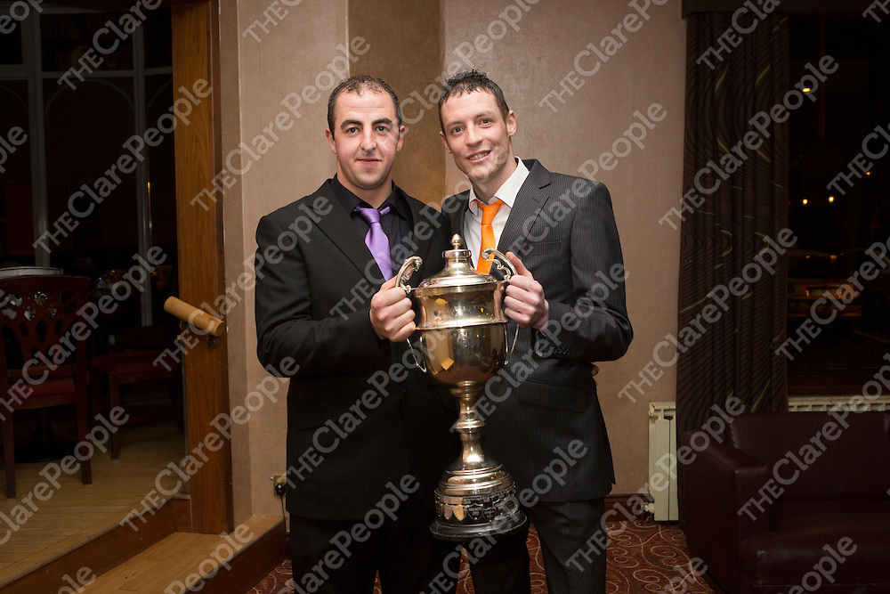 Pictured at the Clarecastle GAA Social held in the West County Hotel were: Adam Healy & Barry Lynch..<br /> Pictured Credit  Brian Gavin Press 22