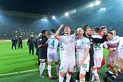 05.02.2019, Signal Iduna Park, Dortmund, GER, DFB Pokal, Borussia Dortmund vs SV Werder Bremen, Achtelfinale, im Bild Bremer Jubel nach dem Abpfiff, hier Max Kruse (SV Werder Bremen #10), links, und Davy Klaassen (SV Werder Bremen #30) in Vorderrund // during the German Pokal round of 16 match between Borussia Dortmund and SV Werder Bremen at the Signal Iduna Park in Dortmund, Germany on 2019/02/05. EXPA Pictures © 2019, PhotoCredit: EXPA/ Andreas Gumz<br /> <br /> *****ATTENTION - OUT of GER*****
