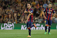 Barcelona´s Xavi Hernandez during 2014-15 Copa del Rey final match between Barcelona and Athletic de Bilbao at Camp Nou stadium in Barcelona, Spain. May 30, 2015. (ALTERPHOTOS/Victor Blanco)