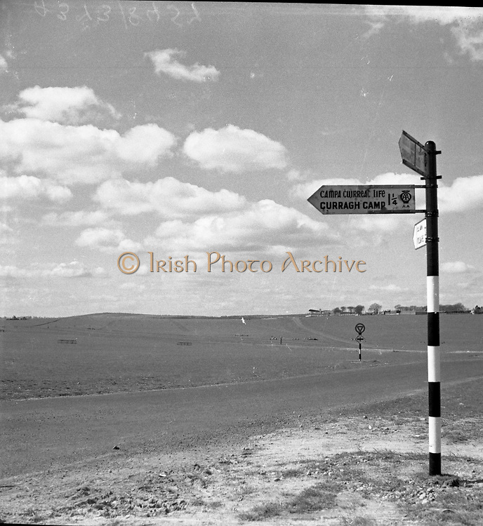 Views of the roving Planes of the Curragh, Co. Kildare.20/05/1957