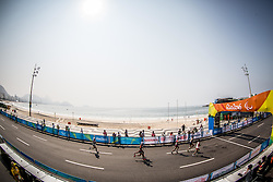 Runners compete at Men's Marathon - T12 Final during Day 11 of the Rio 2016 Summer Paralympics Games on September 18, 2016 in Copacabana beach, Rio de Janeiro, Brazil. Photo by Vid Ponikvar / Sportida