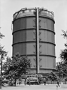 Gasometer at Battersea, London, England, 1933