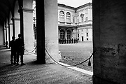 Italian army at Italy's Presidential Palace, Quirinale.  in Rome on  4 April 2018. Christian Mantuano / OneShot