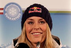07-02-2011 SKIEN: FIS ALPINE WORLD CHAMPIONSSHIP: GARMISCH PARTENKIRCHEN<br /> Pressconference  Lindsey Vonn  from the US Ski team<br /> **NETHERLANDS ONLY**<br /> ©2011-WWW.FOTOHOOGENDOORN.NL/NPH-Mitchell Gunn