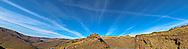 contrails above Rattlesnake Grade-Grande Ronde River Canyon, Asotin County, WA, USA panorama