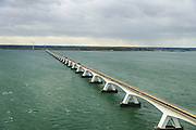 Nederland, Zeeland, Schouwen-Duiveland, 23-10-2013; Zierikzee, Zeelandbrug over de Oosterschelde tussen Noord-Beveland (foto) en Schouwen-Duiveland.<br /> Zeeland bridge across the Eastern Scheldt, south-west Netherlands.<br /> luchtfoto (toeslag op standaard tarieven);<br /> aerial photo (additional fee required);<br /> copyright foto/photo Siebe Swart.