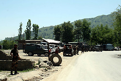 June 2, 2017 - Anantnag, Jammu and Kashmir, India - Militants attacked army convoy on Saturday in Jammu and Kashmir National highway near Lower Munda Qazigund area of south Kashmir's Anantnag district. Two army men were killed and four others injured. (Credit Image: © Muneeb Ul Islam/Pacific Press via ZUMA Wire)