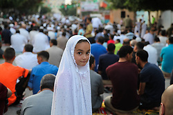 September 1, 2017 - Gaza, Northern Gaza, Palestine - Thousands of Muslims participated in the morning prayers of Eid al-Adha North Gaza. (Credit Image: © Ramez Habboub/Pacific Press via ZUMA Wire)