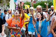 BELO HORIZONTE_MG. 19 de fevereiro de 2012...BELOTUR - CARNAVAL BH..Bloco Batiza Esse Nene desfial pelas ruas do bairra deSanta Tereza?.Foto: RODRIGO LIMA / NITRO.