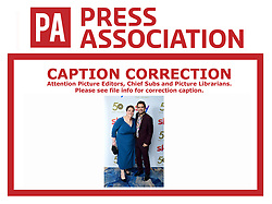 CAPTION CORRECTION CHANGING PERSONS SHOWN TO ANNE HEGARTY AND PAUL SINHA. IMAGES WILL BE RETRANSMITTED SHORTLY WITH CORRECT INFOMATION. CAPTION SHOULD READ Anne Hegerty and Paul Sinha attending the TRIC Awards 2019 50th Birthday Celebration held at the Grosvenor House Hotel, London.