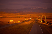 Image of Highway I-90 in the fall, Montana, Pacific Northwest by Randy Wells
