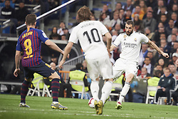 March 2, 2019 - Madrid, Madrid, Spain - Karim Benzema (forward; Real Madrid), Luka Modric (midfielder; Real Madrid) in action during La Liga match between Real Madrid and FC Barcelona at Santiago Bernabeu Stadium on March 3, 2019 in Madrid, Spain (Credit Image: © Jack Abuin/ZUMA Wire)