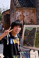 The ancient village of Yangmei is approximately 30 kilometres from the provincial capital of Nanning.   Art students are attracted to Yangmei for the well preserved Qing and Ming dynasty architecture