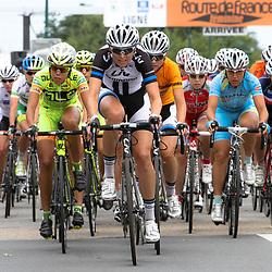 WIELRENNEN, Route de France feminin Marijn de Vries op kop van de groep