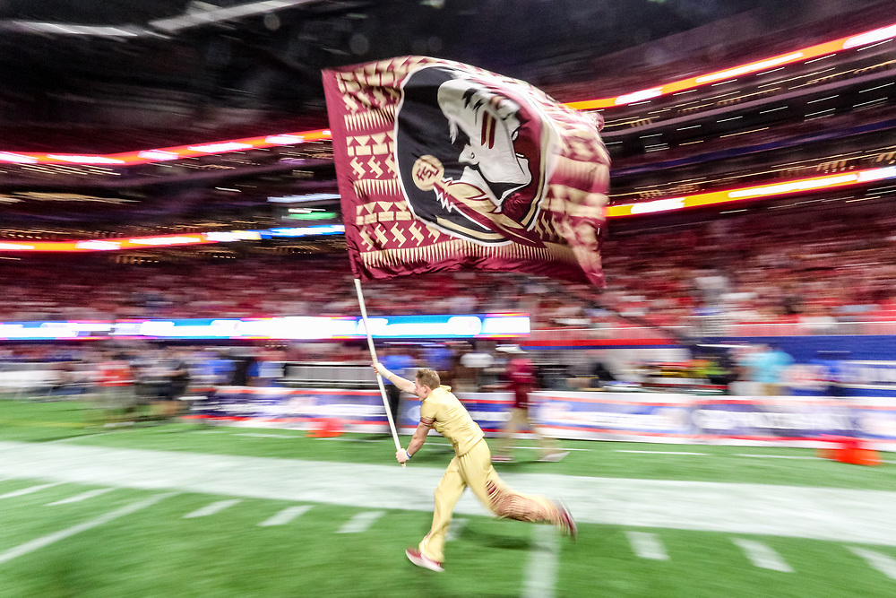 during the Chick-fil-A Kickoff NCAA football game on Saturday, September 2, 2017, in Atlanta. (Karl L. Moore via Abell Images for Chick-fil-A Kickoff Game)
